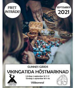 Vikingatida höstmarknad på Gunnes gård @ Vikingagården Gunnes gård   Stockholms län   Sverige