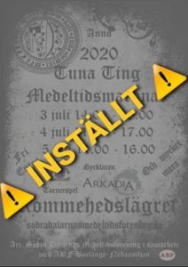 AFLYST - Tuna Ting Medeltidsmarknad @ Rommehedslägret | Dalarnas län | Sverige